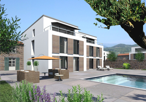 architektur mehrfamilienhaus architekturmodell 3d animation visualisierung. Black Bedroom Furniture Sets. Home Design Ideas